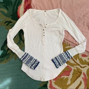 Free People White Beach Thermal Crochet Top